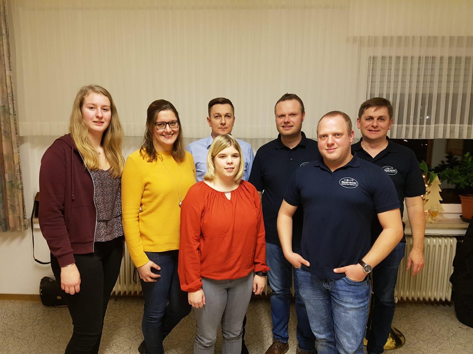 Vorstand 2020 des Sintfeld-Echos Haaren